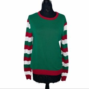 Ugly Christmas Sweater Candy Cane Sleeve Scarf